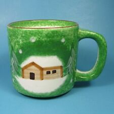 The Cellar LOG CABIN Mug Christmas Made in China 1998