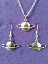 Planet Earrings and Necklace Set * Cosmic Jewellery * Space Moon Sun Stars Pagan