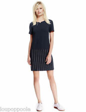 size 10 navy pin stripe shift dress marks and spencer best of british brand new