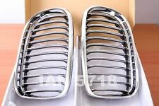 BMW CHROME KIDNEY GRILLS E90 E91 3 SERIES 4 DOOR 2008 - 11 SALOON ESTATE 318 320