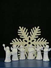 +# A009386_06 Goebel Arbeitsmuster 41/131-136, 6 verschied. Weihnachtsengel weiß