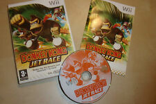 ORIGINAL NINTENDO Wii GAME DONKEY KONG JET RACE TESTED GWO COMPLETE PAL