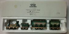 The Flying Scot Train Dept 56 Heritage Dickens Village Porcelain Collection 4 Pc