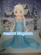 High quality Elsa Princess Mascot Costume Frozen Party Fancy Dress Free Shipping