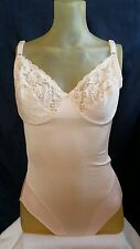 Vintage Substract Antron Nylon Sexy Lace Teddy/Body Shape Onepiece 42C usa made