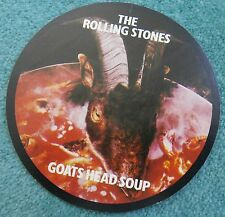 ROLLING STONES GOATS HEAD SOUP RARE 1970'S ORIGINAL CRACK BACK STICKER MINT NEW