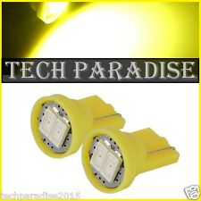 4x Ampoule T10 / W5W / W3W LED 2 SMD 5630 Jaune Yellow veilleuse lampe light