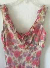 Sexy Feminine Soft Floral Dress 100% Silk Size 4 by Maggy London