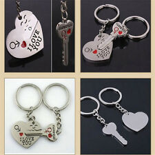 "Heart+Arrow + Key Key Chain Ring Keyring Lover Gift Couple Keyfob  ""I Love You"""