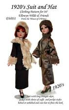 """EW031 1920's Suit and Hat pattern for  16"""" Ellowyne Wilde & friends"""