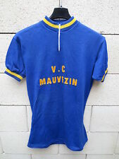 VINTAGE Maillot cycliste VC MAUVEZIN laine wool shirt maglia camisera OurSport 4