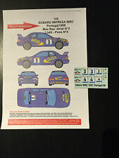 DECALS 1/43 SUBARU IMPREZA COLIN MCRAE RALLYE PORTUGAL 1998 RALLY PORTUGHESE