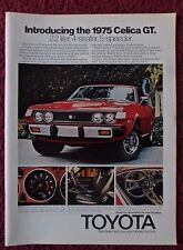 1975 Print Ad Red Toyota Celica GT Car Automobile ~ 2.2 Liter 4-Seater 5-Speeder