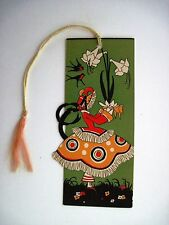 Vintage Art Deco Bridge Tally w/ Woman Carrying A Plant in Deco Skirt *