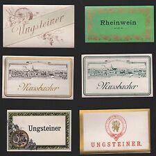 6 Etiketten für Wein von ca. 1920 / étiquette de vin / wine label / # 1424