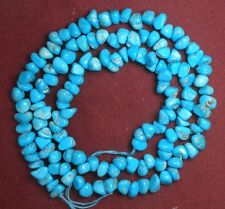 "Sleeping Beauty Turquoise Gemstone 4 to 7mm Loose Chip Craft Beads Blue 18"" #206"