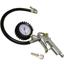 CAR VAN TRUCK BIKE TYRE AIR INFLATOR DIAL PRESSURE GAUGE COMPRESSOR METER UK NEW