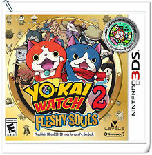 3DS Nintendo Yo-Kai Watch 2: Fleshy Souls RPG Games