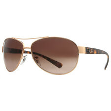 Ray Ban RB 3386 001/13 63mm Gold Havana Brown Gradient Aviator Sunglasses