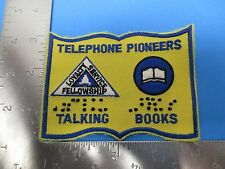 Telephone Pioneers Talking Books Patch Embroidered Gold & Blue S3212