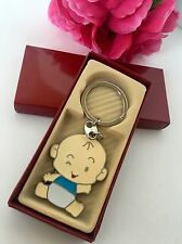 12-Baby Shower Boy Party Favors Keychains Favors Blue Party Recuerdos De Nino