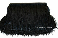 "1  yard 12"" Black Chainette Fringe Dance Costume Trim"