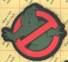 PVC Ghostbusters Morale Patch Green Olive Army tactical Paintball GITD Glow