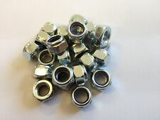 (QTY 20) M4 NYLOC NUTS TYPE T DIN 985 NYLON INSERT NUT STEEL ZINC PLATED
