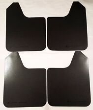 RALLY ARMOR UNIVERSAL FITMENT MUD FLAPS SET (NO MOUNTING HARDWARE) BLACK LOGO
