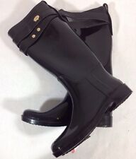 New with defect $148 Coach Tara Women Black Rain S414 Shoes BootsSz 8M