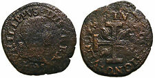 Italien Neapel Filippo IV (1621-1665), 3 Cavalli con croce e fiamme 1625
