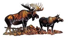 Moose In The Marsh Metal Wall Art Lodge Western Decor