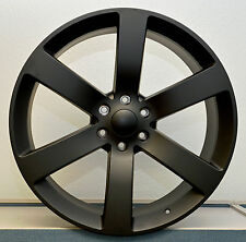 "NEW! Set (4) 24"" FL Black SS Style Chevy GMC Silverado Sierra Tahoe Wheels Rims"