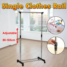 Portable Stainless Steel Clothes Organizer Hanger Rack Garment Coat Dryer Single