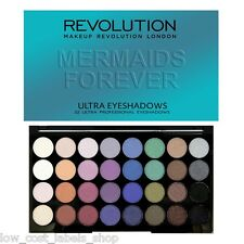 Makeup Revolution London 32 Shade Eyeshadow Palette MERMAIDS FOREVER