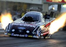 COURTNEY FORCE ~ FLAMES ~ NHRA FUNNY CAR DRAG RACE RACING 8X10 PHOTO