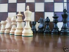 BRAND NEW ♚  GERMAN KNIGHTS EBONIZED  ♞ WEIGHTED WOODEN CHESS PIECES 3.5""