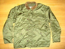 Vtg US NAVY A-1 Extreme Cold Weather Jacket Impermeable Flight Deck Sz M
