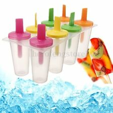 8pcs Ice Cream Block Mould Mold Icy Frozen Pole Jelly Yogurt Pop Popsicle Maker