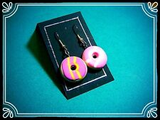 ** Party Rings earrings - handmade sugar cookie stocking filler fimo  **