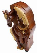 Horse Wooden Secret Puzzle Box