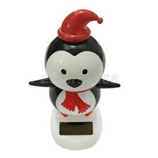 Solar Powered Dancing Bobble Head Penguin Toy Home Desk Table Car Ornament