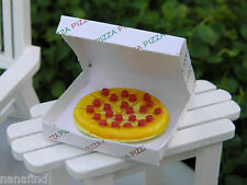 Miniature Dollhouse FAIRY GARDEN Accessories ~ Pepperoni Pizza in Box ~ NEW