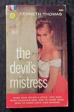 1958 THE DEVIL'S MISTRESS by Kenneth Thomas 2nd Gold Medal Paperback VG/FN 5.0