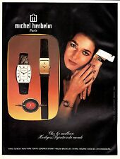PUBLICITE  MONTRE MICHEL HERBELIN   WATCH    AD  1977