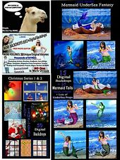 15 Volume MERMAID FANTASY PHOTOGRAPHY BACKGROUND PHOTO EDITING kit (disc #2)