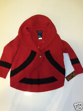 NWT Girls Ralph Lauren Polo Red Circular Shrug Cardigan Sweater Wool Sz 2 2T NEW