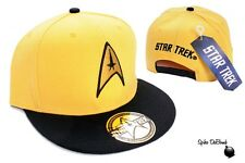 AWESOME YELLOW STAR TREK STARFLEET COMMAND YELLOW SNAPBACK CAP HAT *BRAND NEW*