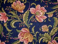 Mill Creek Floral SAPPHIRE Blue Green Home Decor Drapery Cotton Sewing Fabric