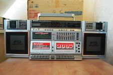 BOOMBOX SHARP WF939Z (S) Silver Vintage Rare Condition